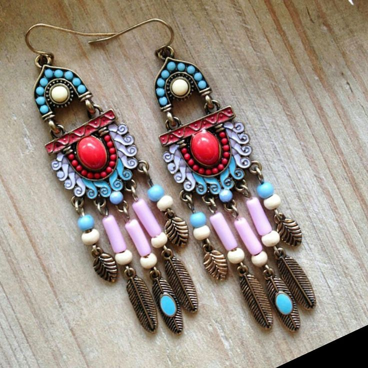 Hippie style large hanging earrings is available at Department Golden Pineapple. PM /email us at departmentgoldenpineapple@gmail.com for further info.