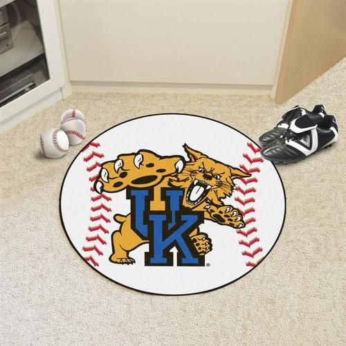 Kentucky Wildcats UK Baseball Floor Rug Mat