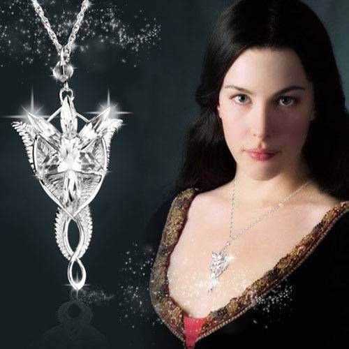 Arwen Evenstar Necklace Lord Rings LOTR Silver Crystal Pendant Fantasy Fairytale #Handmade #NecklacePendant