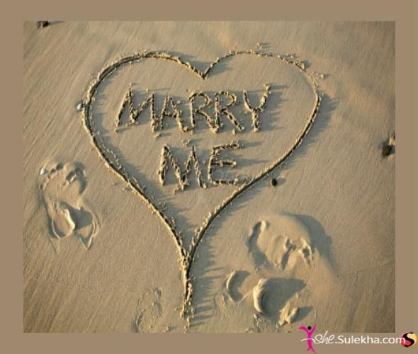A beach themed Marriage Proposal Idea- just make sure the beach is a clean one :)