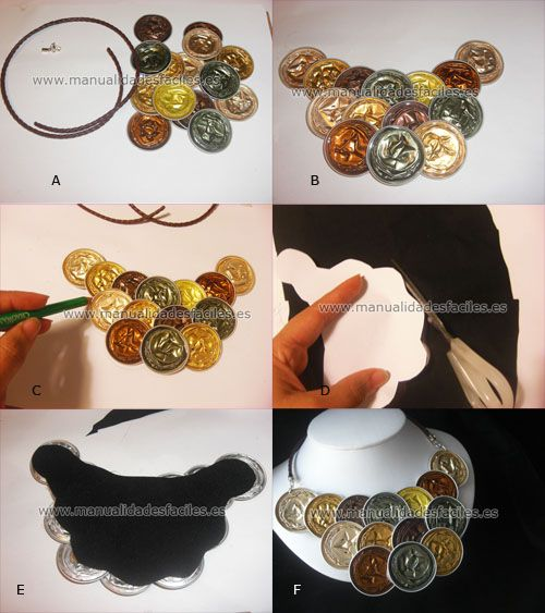 nespresso capsules necklace - earthtones