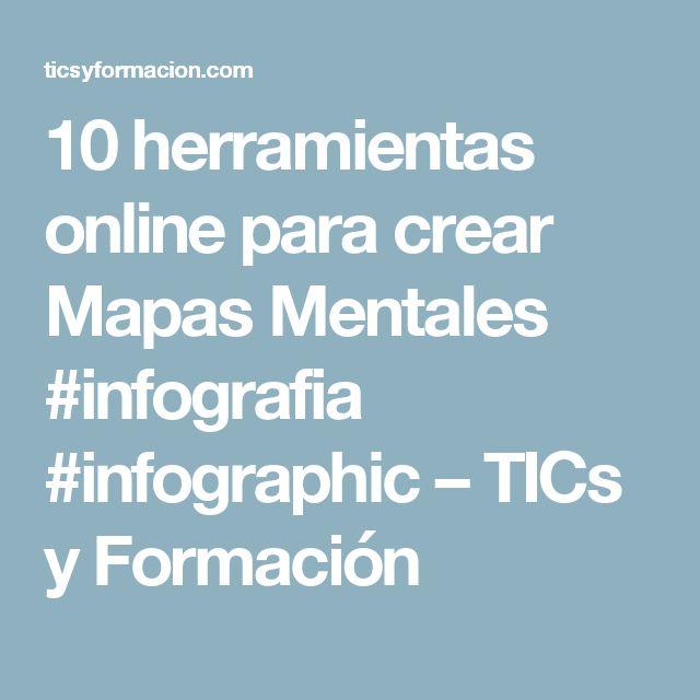10 herramientas online para crear Mapas Mentales #infografia #infographic – TICs y Formación