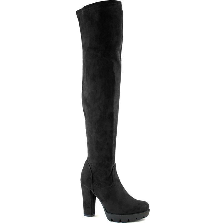 Μαύρη μπότα με τακούνι
