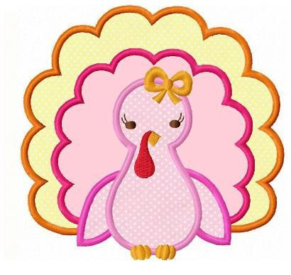 Thanksgiving Applique Embroidery Designs