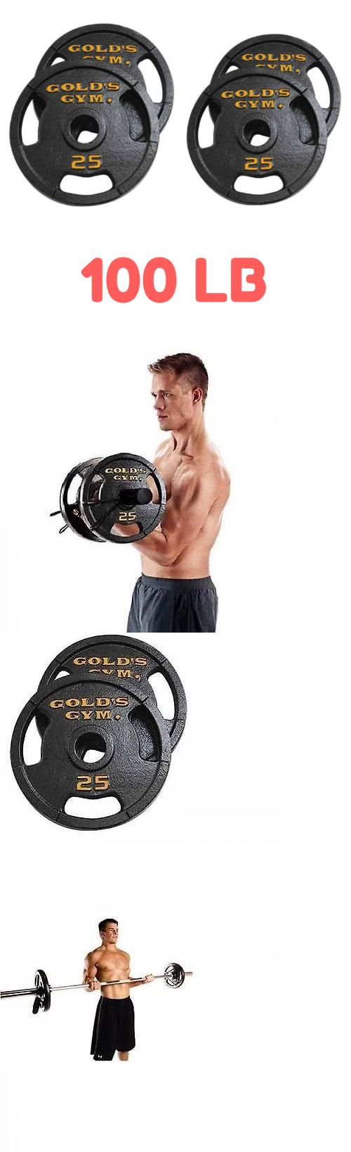 Weight Plates 179817: Olympic Cast Iron Weight Plate Set Bundle 100 Lb Pound Exercise Lifting Gold Gym -> BUY IT NOW ONLY: $115.25 on eBay!