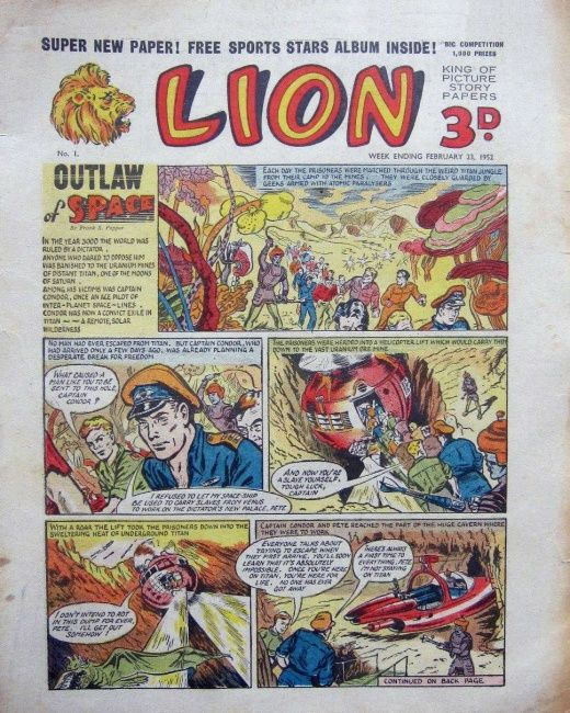 Lion comic regularly purchased mid 1950's