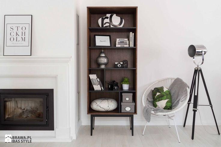 Salon, styl nowojorski - zdjęcie od STABRAWA.PL - pozytywny design new york style   design   modern   luxury home   ideas   inspiration   home decoration   fireplace   living room