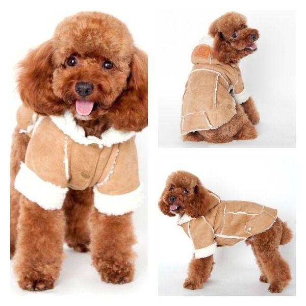 abrigo para perro de pelo de oveja