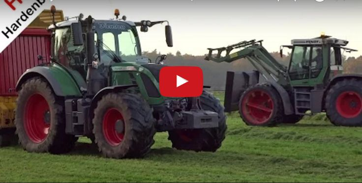NL: Grass rake and pick up in Uddel with a Fendt Xylon 524 with Krone Swadro Kroes and a Fendt 720 Vario with a Schuitemaker Rapide 135 contractor P. van den Hardenberg from Elspeet in the Netherlands. ENG: Grass silage and raking in Uddel with a Fendt Xylon 524 with a Krone Swadro or farmer…