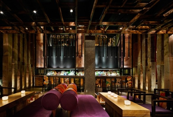 Ame restaurant purple sofa furniture interior design for Chinese furniture toronto canada
