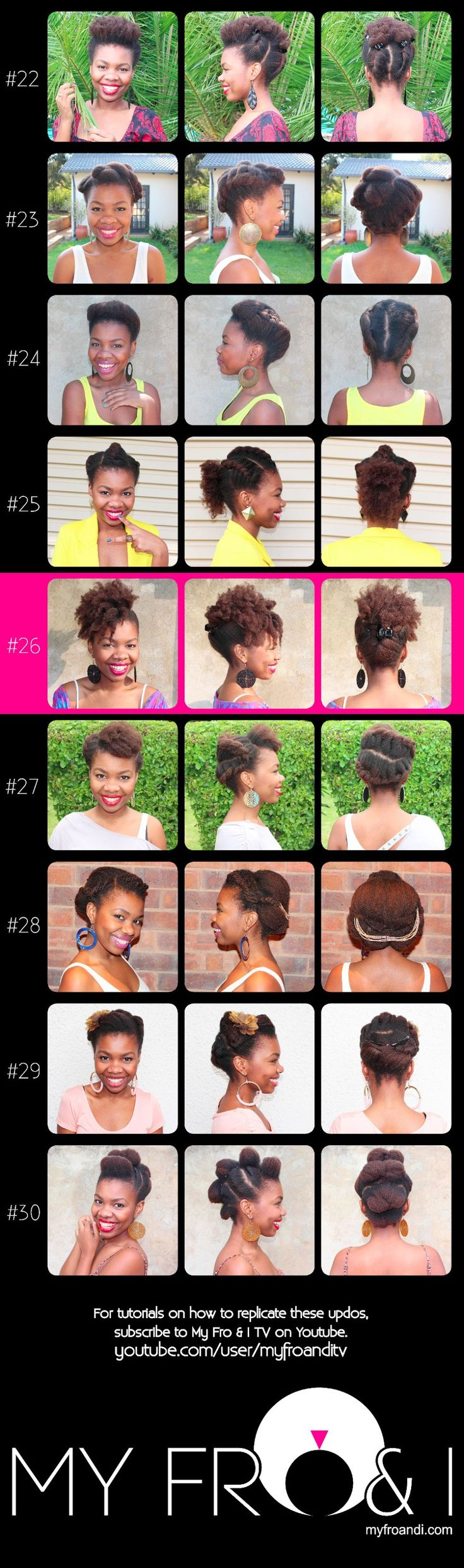 My Fro & I : A South African Natural Hair & Beauty Blog: 30 Updos