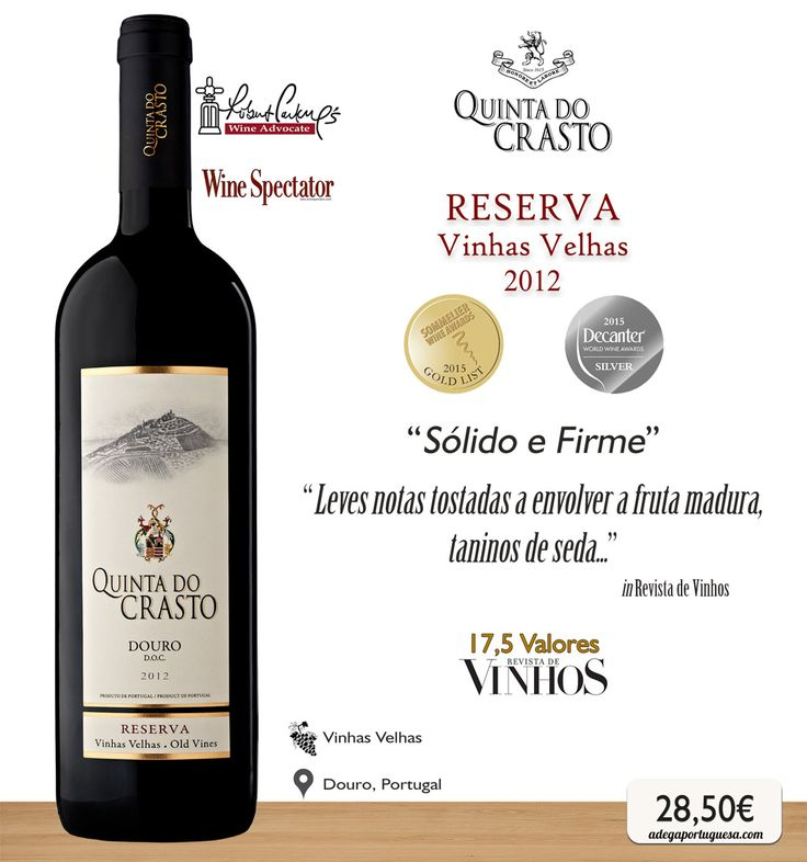 Quinta do Crasto Reserva Vinhas Velhas 2012 #wine #redwine #vinho #tinto #vinhasvelhas #douro #portugal #picoftheday #winelovers #crasto #quintadocrasto #oldvines #winespectator #robertparker #decanter #dwwa2015 #sommelier #swa2015 #portuguesewine