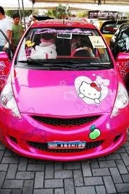 hello kitty car, GASPS!  MINE!