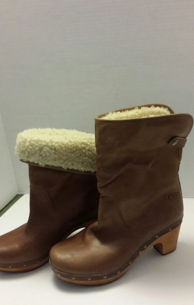 Women's UGG Lynnea S/N 1958 Leather boots sz 6US #UGGAustralia #Fashion #Casual