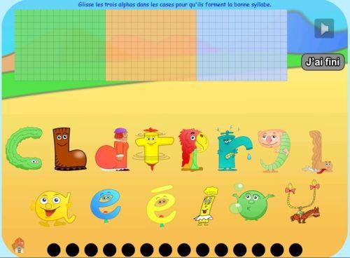 Alphas : construire des syllabes