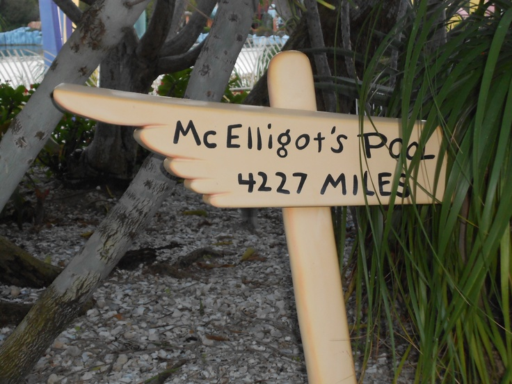 @Ashley Blount McElligot's Pool 4227 miles sign
