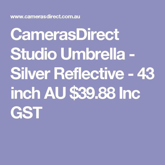 CamerasDirect Studio Umbrella - Silver Reflective - 43 inch  AU $39.88 Inc GST