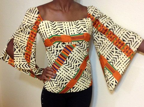 Tribal Ethnic African Top plus size by EvethsFashion on Etsy, $50.00