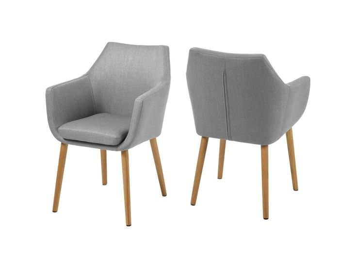 Krzesło Nora szare tkanina nogi dewniane — Krzesła Actona — sfmeble.pl