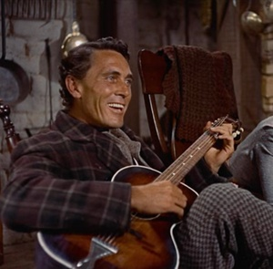 """Ken Curtis (who later played """"Festus"""" on Gunsmoke for many years) here in """"The Searchers."""" Curtis had a beautiful voice and sang in many of John Wayne's movie. Was actually a professional singer with many recordings."""