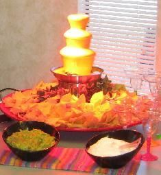 Nacho nacho man, I want to be a naaaacho man. When we were registering before our wedding, I had an aversion to single-use appliances. A chocolate fountain was never in consideration but if I had known it could moonlight as a nacho bar, my opinion might have changed!