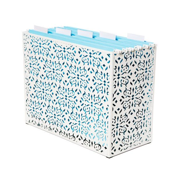 super cute organization: Ideas, Desktop File, Offices, The Container Stores, Organizations, File Cabinets, File Folder, File Organization, Brocade Desktop