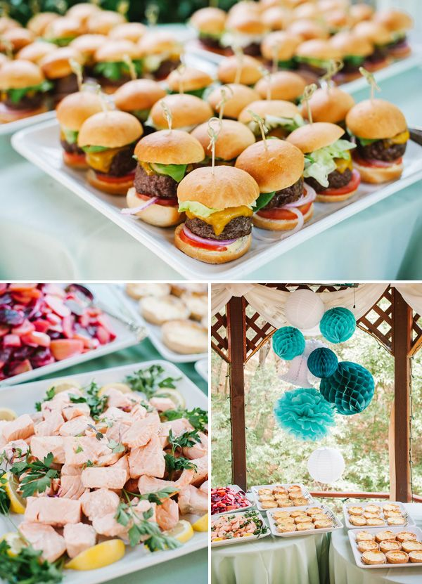 Bridal shower foods and Wedding showers