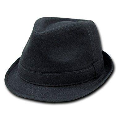 9e25ca7830f DECKY Melton Fedora Hat (BLACK