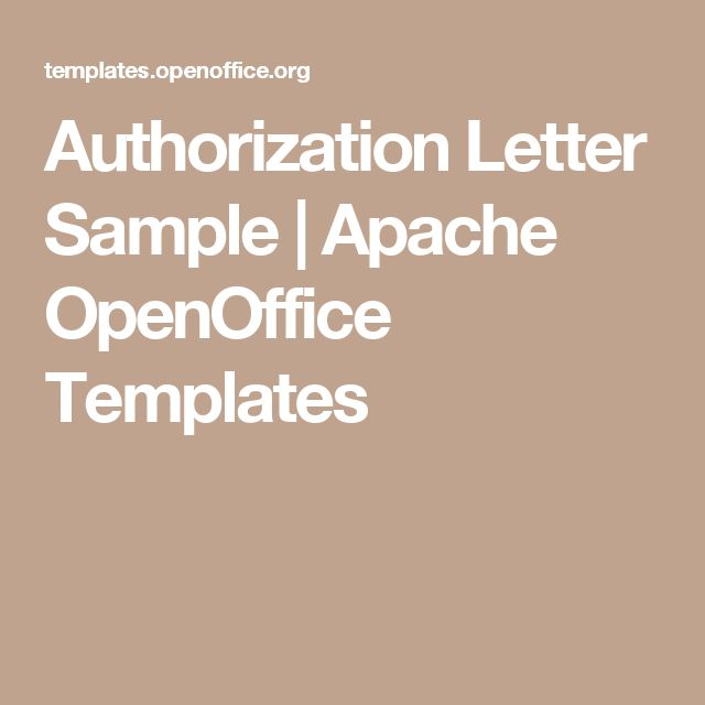 Authorization Letter Sample | Apache OpenOffice Templates
