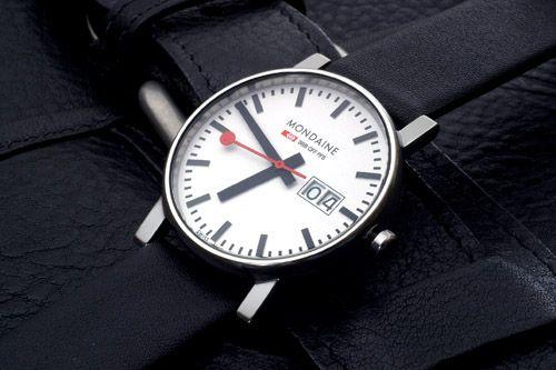 mondaine railroad watch