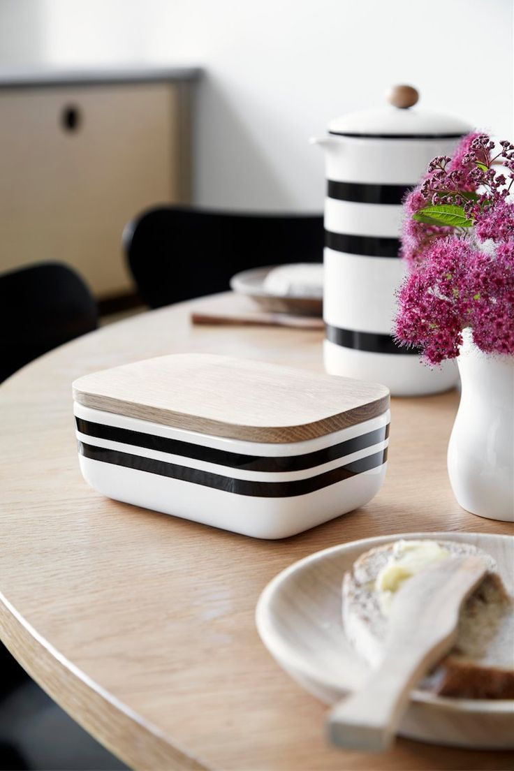 Kahler Scandinavian Design And Decor   Striped Butter Box