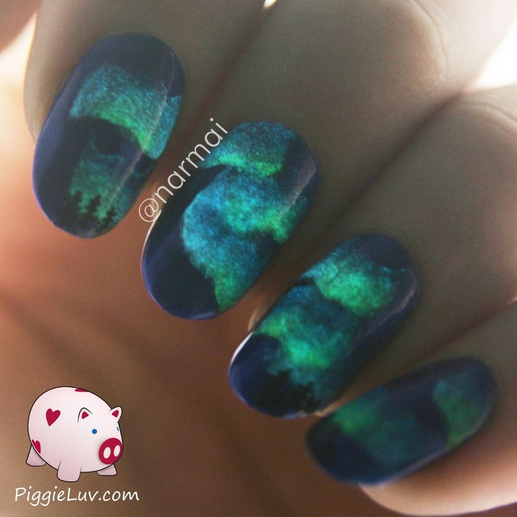 Best 25 glow nails ideas on pinterest acrylic nail art nail northern lights glow in the dark nail art video tutorial prinsesfo Gallery