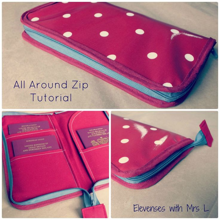 I've just finished making a travel wallet with an all-around zip as part of a custom order and I thought you might like to know how t...
