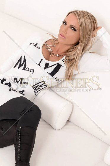 MissQ Great Letters White Blouse