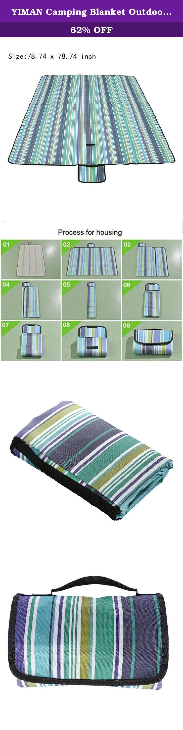 YIMAN Camping Blanket Outdoor Oxford Fabric Picnic Blanket 78 IN x 78 IN All-Purpose Water-Resistant Mat,Extral Large Blanket Beach Mat Blue Stripes. Why Get A Picnic Blanket? Moisture-proof pad is very important when outdoor. The functions are great. Firstly, anti-Ge. It is difficult to find a flat place when camping or hiking. You will feel uncomfortable when sleeping. If you use a mat, the situation would be better. Second, keeping warm. Your body should contact with the ground…