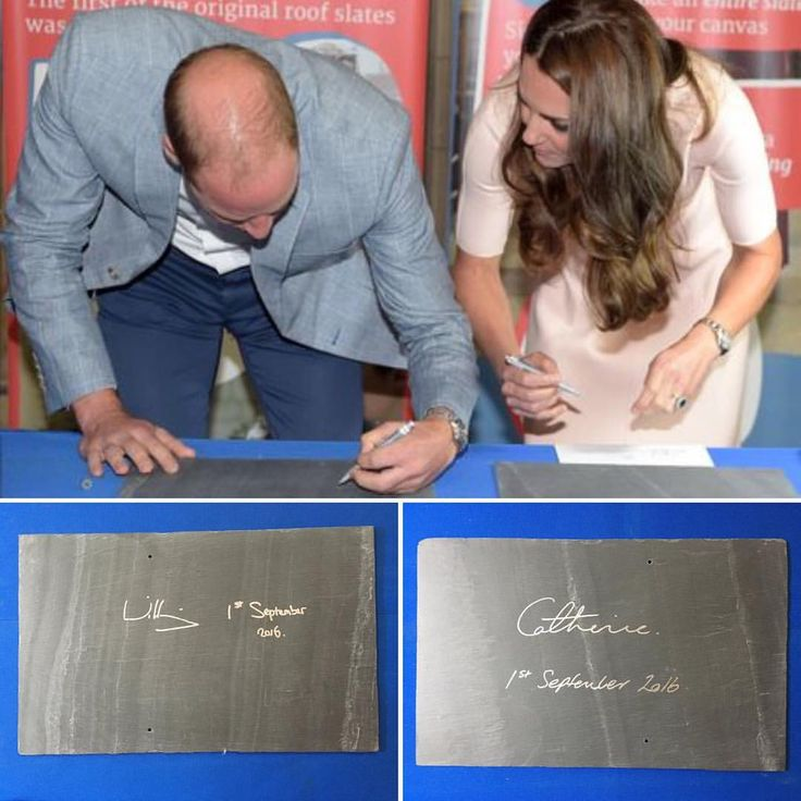 William and Kate's signed slates today in #Truro