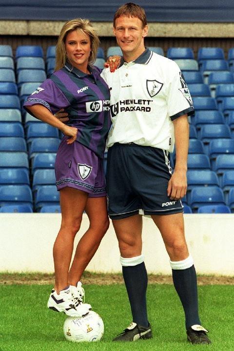 Samantha Fox and Teddy Sheringham, 1995