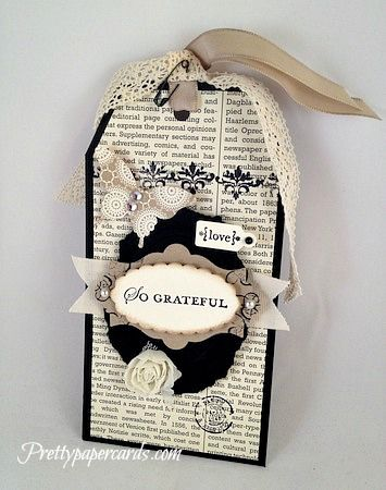Beautiful Bookmark by Pretty Paper Cards - Cards and Paper Crafts at