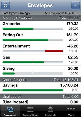 iPhone Screenshot for Easy Envelope Budget Aid (EEBA ...