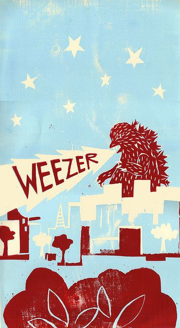 Weezer. Named my son after this band. His name will forever be Jonas!
