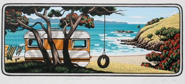 Caravan Window by Tony Ogle for Sale - New Zealand Art Prints