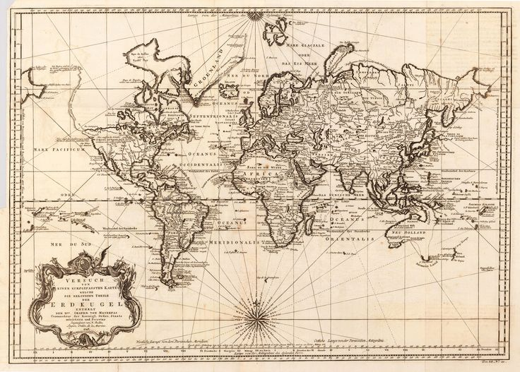 old fashioned maps of the world