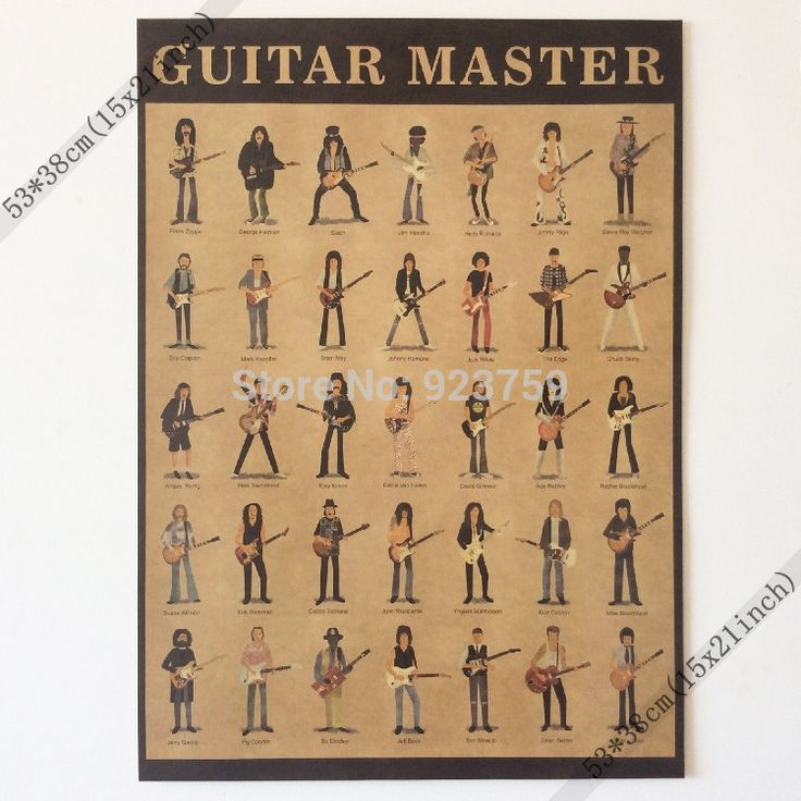 Guitar Master Frank Zappa,george Harrison,slash,jimi Hendrix Vintage Home Wall Decoration Poster 21x15 Inch(53*38cm)paper Poster-in Wall Stickers from Home & Garden on Aliexpress.com | Alibaba Group