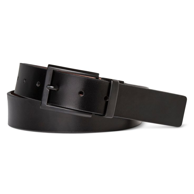 Swiss Gear Men's Matte Buckle Reversible Belt - Black/Brown XL, Size: XL(40-44), Black Brown