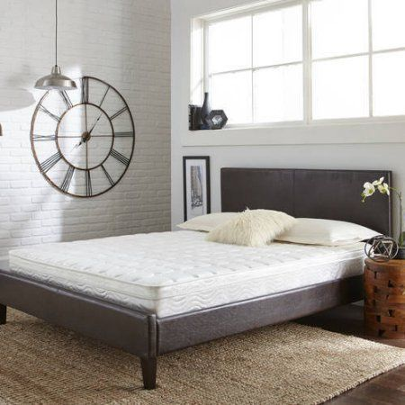 Contura Flex 8 inch Medium Firm Pillow Top Quilted Support Foam and Innerspring Hybrid Mattress Bed, Multiple sizes, White