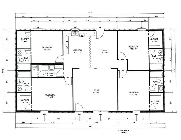 Rectangle House Floor Plans Bedroom Rectangular Fresh With Split Bedrooms Basic Home Simplest T Rectangle House Plans Bedroom Floor Plans Two Story House Plans Simple rectangle house plan
