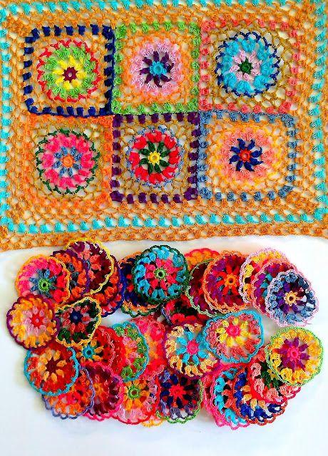 boho crochet tablecloth in progerss