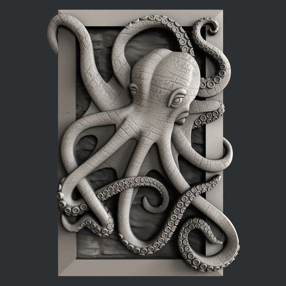 3d STL models for CNC octopus Products in 2019 Cnc