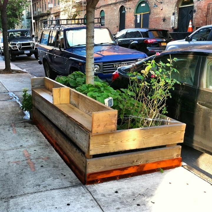 DIY urban bench + city planter, maybe a larger seating board?, landscape architecture, landscaping, raised bed gardening