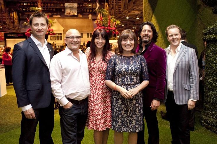 The Ideal Home Show Scotland 2012 celebrity team.